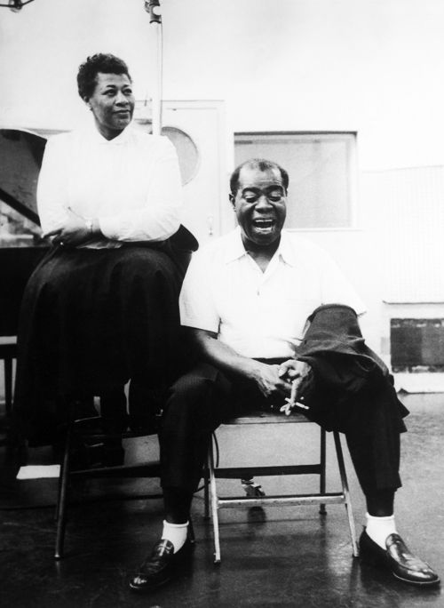 ELLA FITZGERALD and LOUIS ARMSTRONG (ca. 1956)||rights=RM